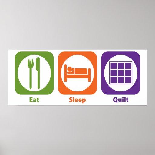Eat Sleep Quilt Poster