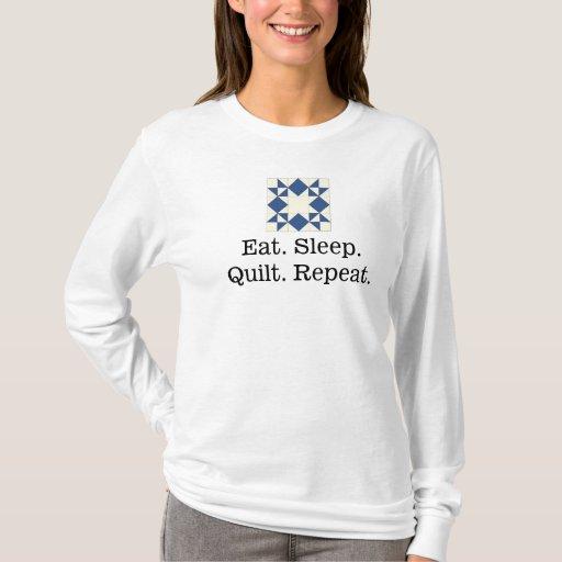 Eat Sleep Quilt Repeat Women 39 S Long Sleeve T Shirt
