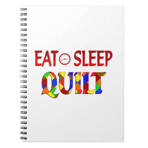 Eat Sleep Quilt Spiral Notebooks