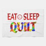 Eat Sleep Quilt Towels