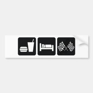 Eat Sleep Race Bumper Sticker