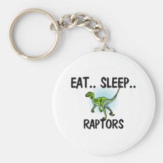 Eat Sleep RAPTORS Basic Round Button Keychain