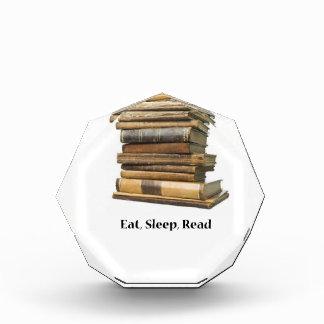 Eat Sleep Read Acrylic Award