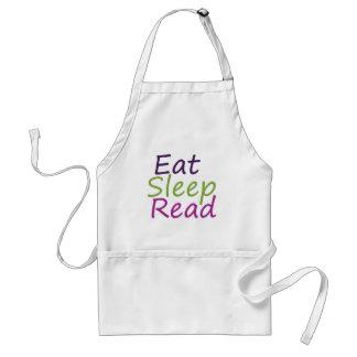 Eat Sleep Read Adult Apron