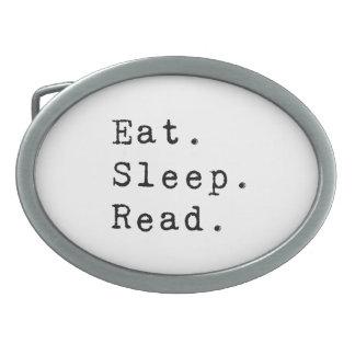 Eat. Sleep. Read. Belt Buckles