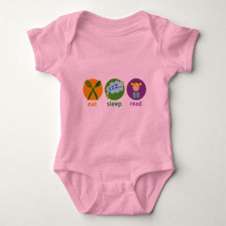 Eat Sleep Read Booklover Girl Gift Baby Bodysuit