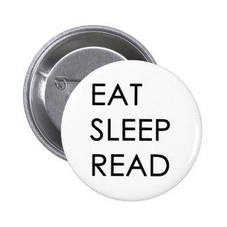 Eat, Sleep, Read Button