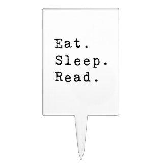Eat. Sleep. Read. Cake Topper