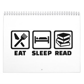 Eat sleep read calendar