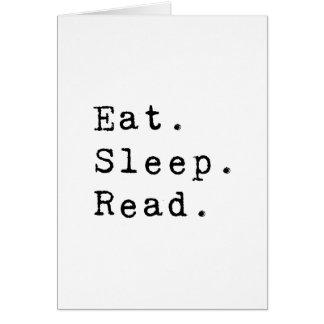 Eat. Sleep. Read. Card