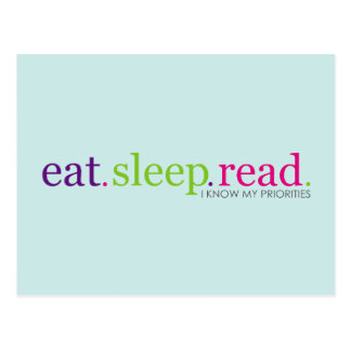 Eat Sleep READ - I Know My Priorities Postcards