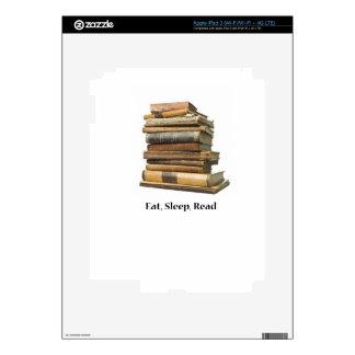 Eat Sleep Read iPad 3 Decals