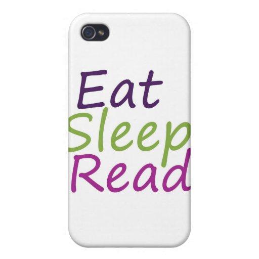 Eat Sleep Read iPhone 4 Covers