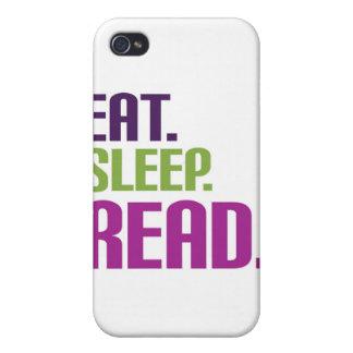 eat sleep read iPhone 4/4S cases