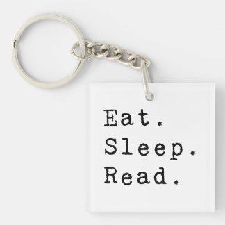 Eat. Sleep. Read. Keychain