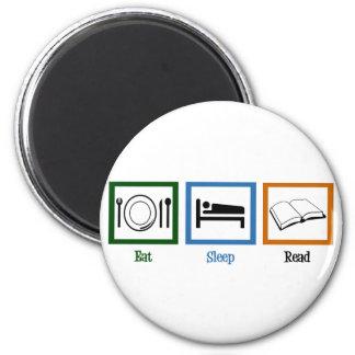 Eat Sleep Read 2 Inch Round Magnet