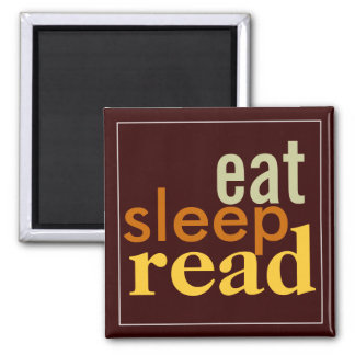 Eat Sleep Read Muted Colors Magnet