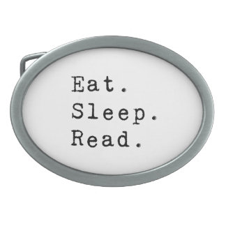 Eat. Sleep. Read. Oval Belt Buckle