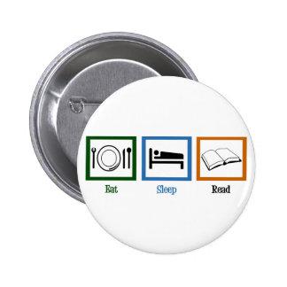 Eat Sleep Read Pinback Button