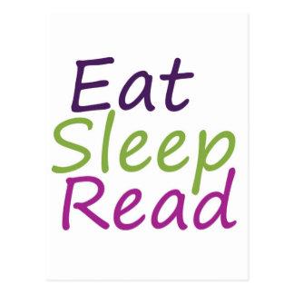 Eat Sleep Read Postcard