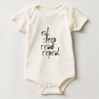 Eat, Sleep, Read, Repeat Baby Bodysuit
