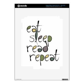 Eat, Sleep, Read, Repeat iPad 3 Skins