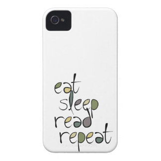 Eat, Sleep, Read, Repeat iPhone 4 Case