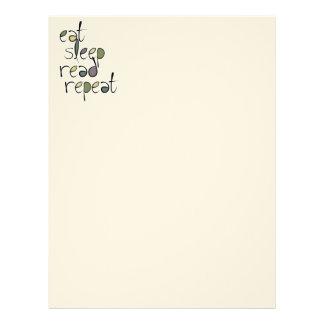 Eat, Sleep, Read, Repeat Letterhead