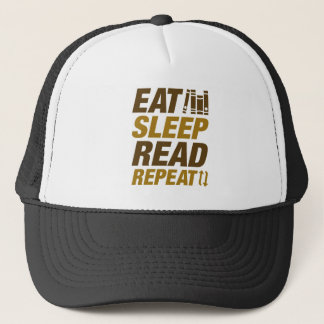 Eat Sleep Read Repeat Trucker Hat