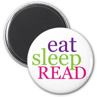 Eat, Sleep, READ - Retro 2 Inch Round Magnet