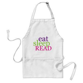 Eat, Sleep, READ - Retro Adult Apron