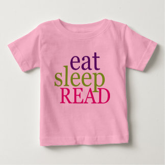 Eat, Sleep, READ - Retro Baby T-Shirt