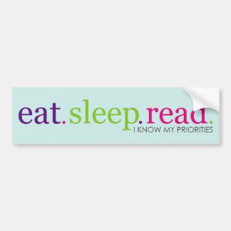Eat, Sleep, READ - Retro Bumper Sticker