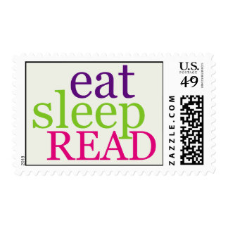 Eat, Sleep, READ - Retro Postage