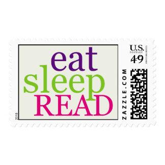 Eat, Sleep, READ - Retro Postage