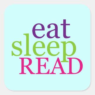 Eat, Sleep, READ - Retro Stickers