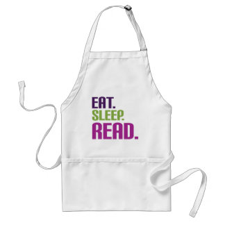 Eat Sleep Read shirts and gifts Adult Apron