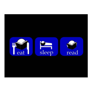 eat sleep read - specially for booklovers! postcard