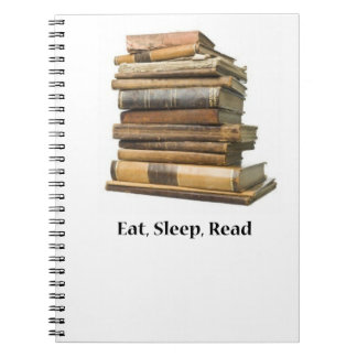 Eat Sleep Read Spiral Notebook