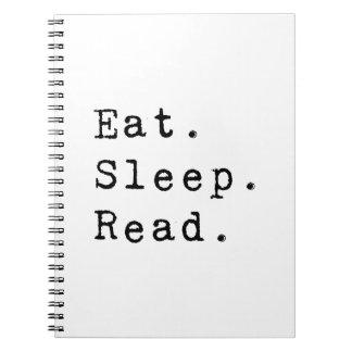 Eat. Sleep. Read. Spiral Notebook