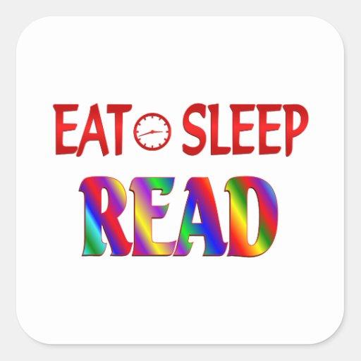 Eat Sleep Read Stickers