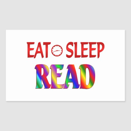 Eat Sleep Read Rectangle Sticker