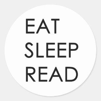 Eat, Sleep, Read Stickers