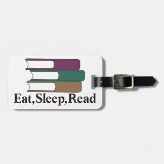 Eat,Sleep,Read Tag For Luggage