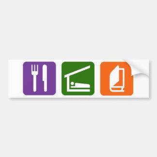 Eat Sleep Reading 2 Bumper Sticker