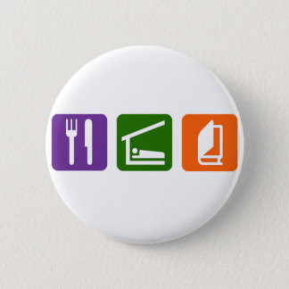 Eat Sleep Reading 2 Pinback Button