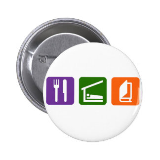 Eat Sleep Reading 2 Pinback Button