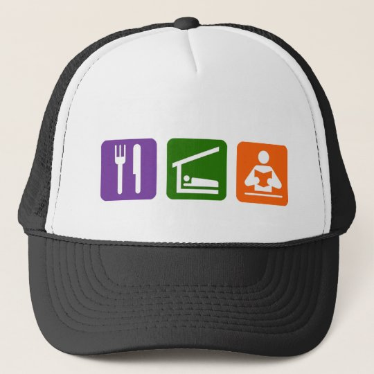 Eat Sleep Reading Trucker Hat