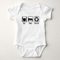 Eat Sleep Recycle Baby Bodysuit