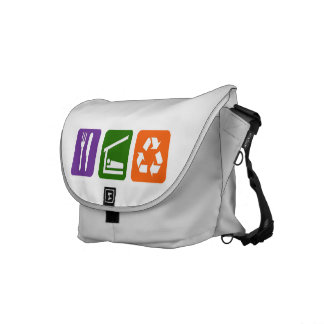 Eat Sleep Recycle Courier Bag